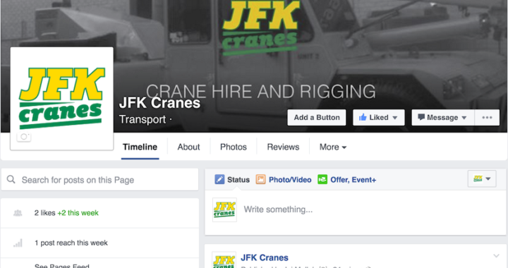 JFK Cranes. Crane Hire and Rigging, Melbourne. Facebook