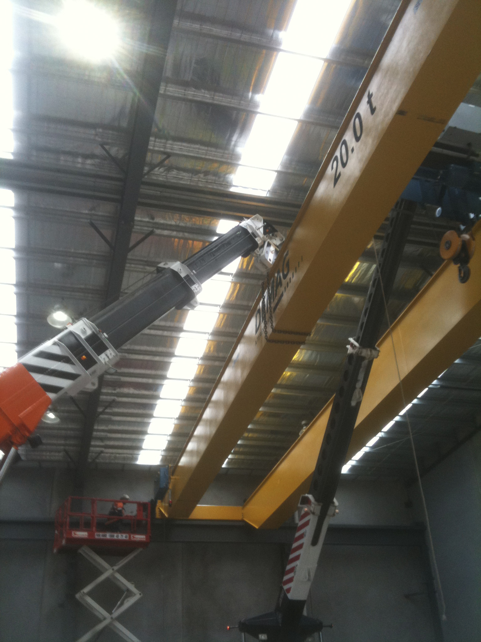 Lifting Demag gantry crane - JFK Mobile crane hire and rigging Melbourne